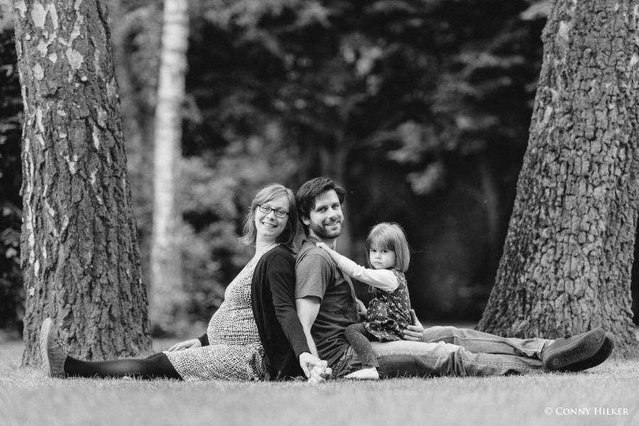 Familienportrait im Park, Vater, Mutter