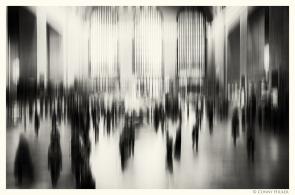 New York in Bewegung, in motion, monochrom. Central Station.