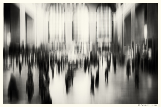 New York in Bewegung, in motion, monochrom. Central Station.