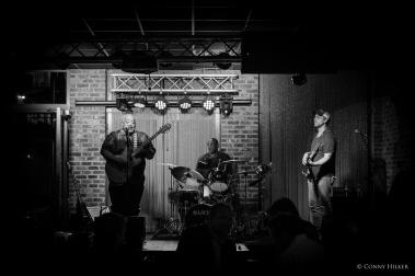 Blues. Bourbon Street, New Orleans, Louisiana, USA in s/w, b/w