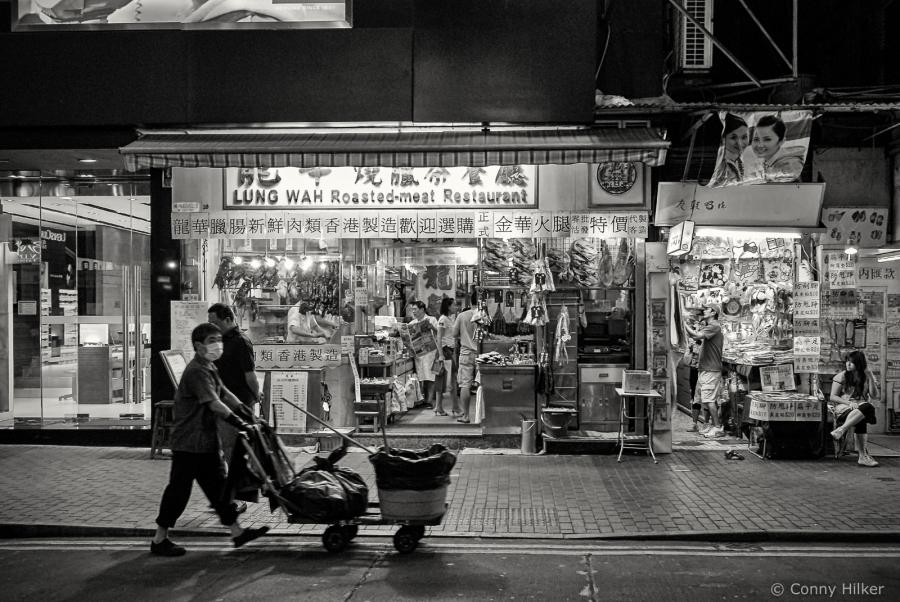 Hongkong, Street, Straßenszene, Arbeiter, b/w, s/w,