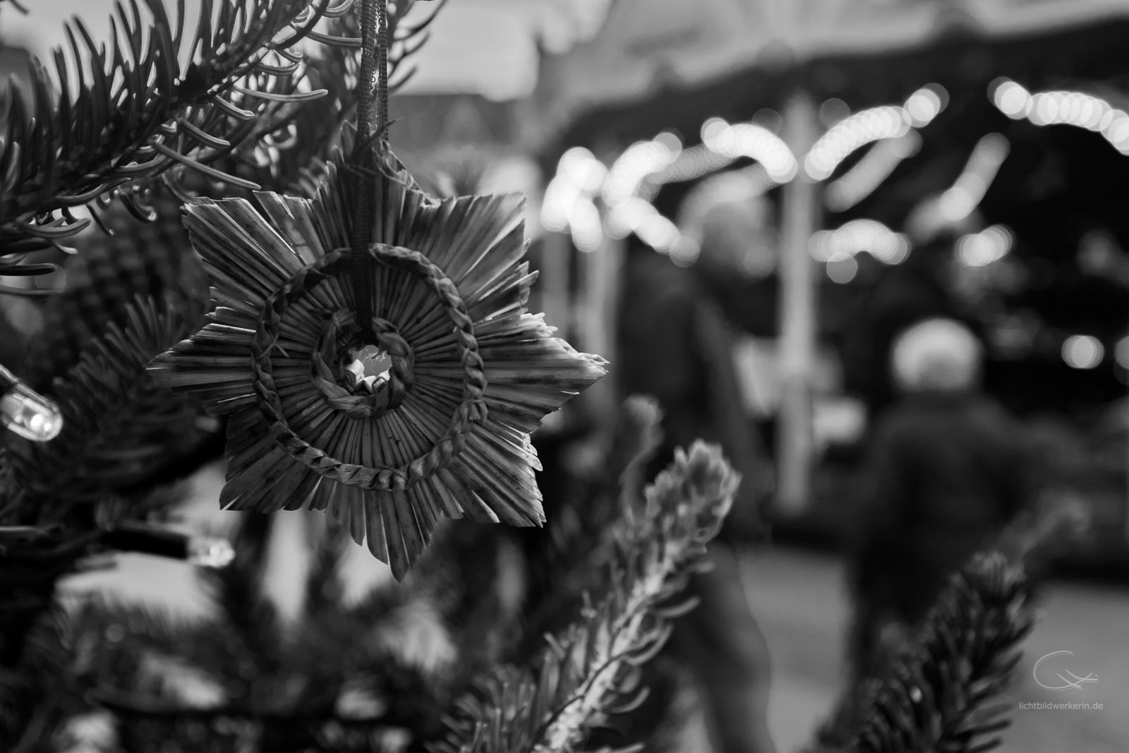 Weihnachten, Strohstern, Weihnachtsmarkt, Hamburg